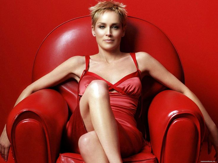 Sharon Stone Uncrossed | Sharon Stone - красное на красном, девушки ...