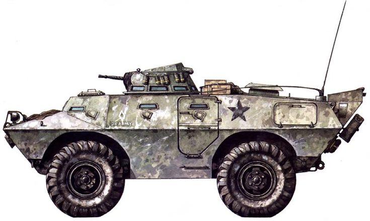 M706 Armored Car, U. S. Army MP, Qui Nhon, 1970