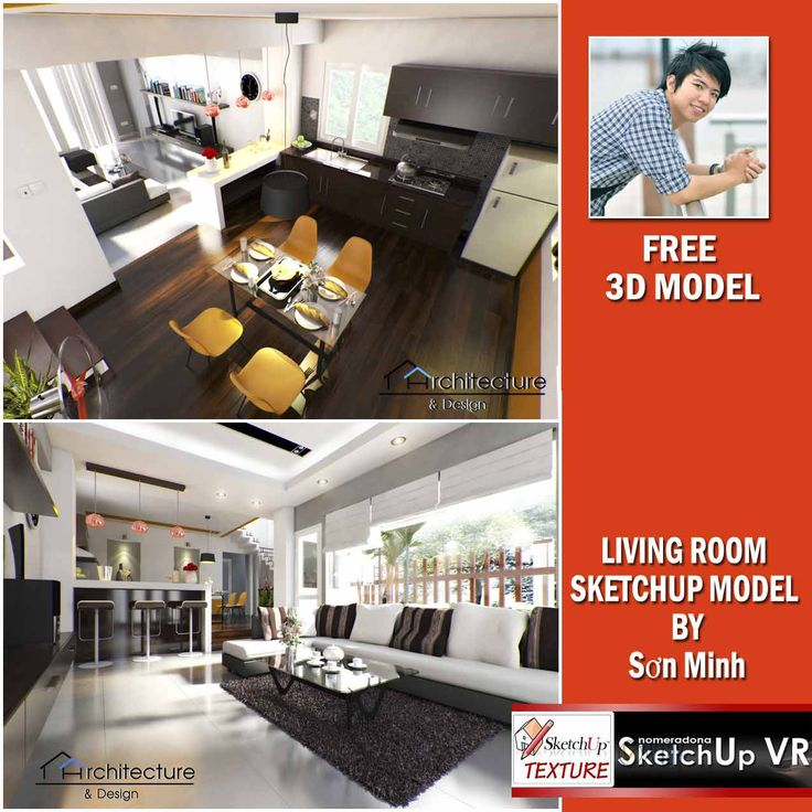 free sketchup model vray setting living room #2-cover