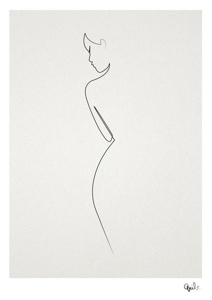 One line nude by Quibe. http://society6.com/product/one-line-nude_print#1=45