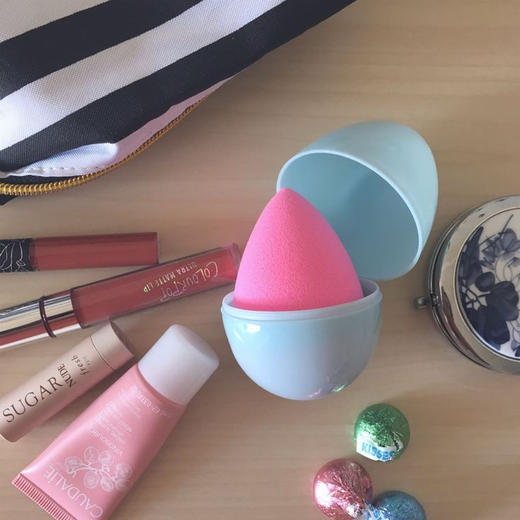 Give your easter eggs new life as a beauty blender travel case.