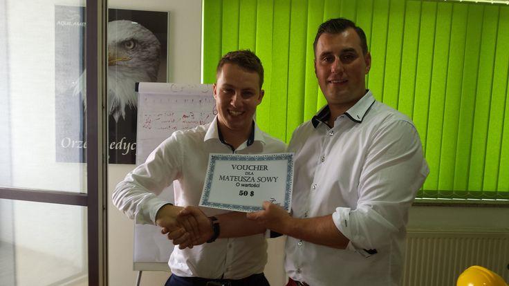 Gratulujemy Mateuszowi kolejnej nagrody :) #aquilamed #ritello #lifestyle #work