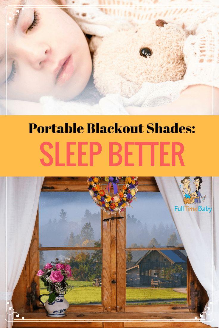 Portable Blackout Shades For Nurseries Or Travel Sleep