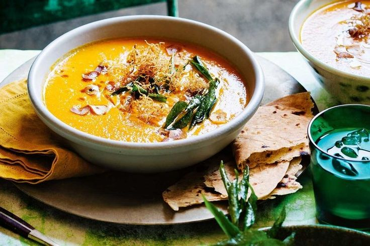 This spicy carrot and lentil soup is an easy and healthy winter warmer. Serve on its own with a warm roti, or as a starter to an Indian feast.