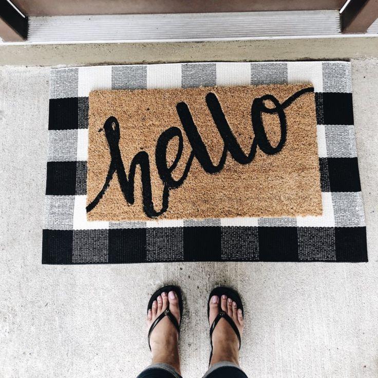 Layered Door Mat Bloggers On Pinterest Front Door