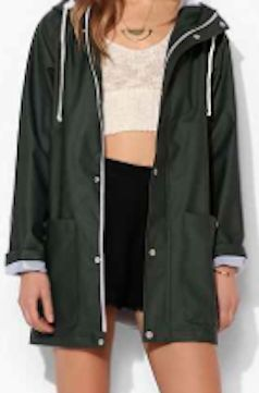 Green Womens Rain Jacket | Outdoor Jacket