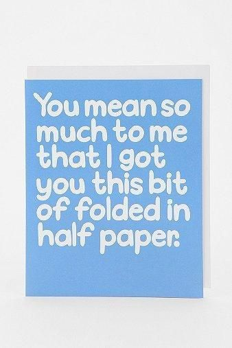 Haha sarcastic best birthday card! Use for friends/family you enjoy joking around with!