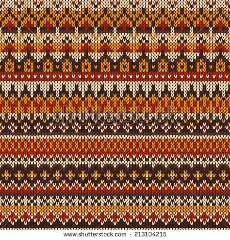 Seamless knitted pattern in traditional Fair Isle style - stock vector
