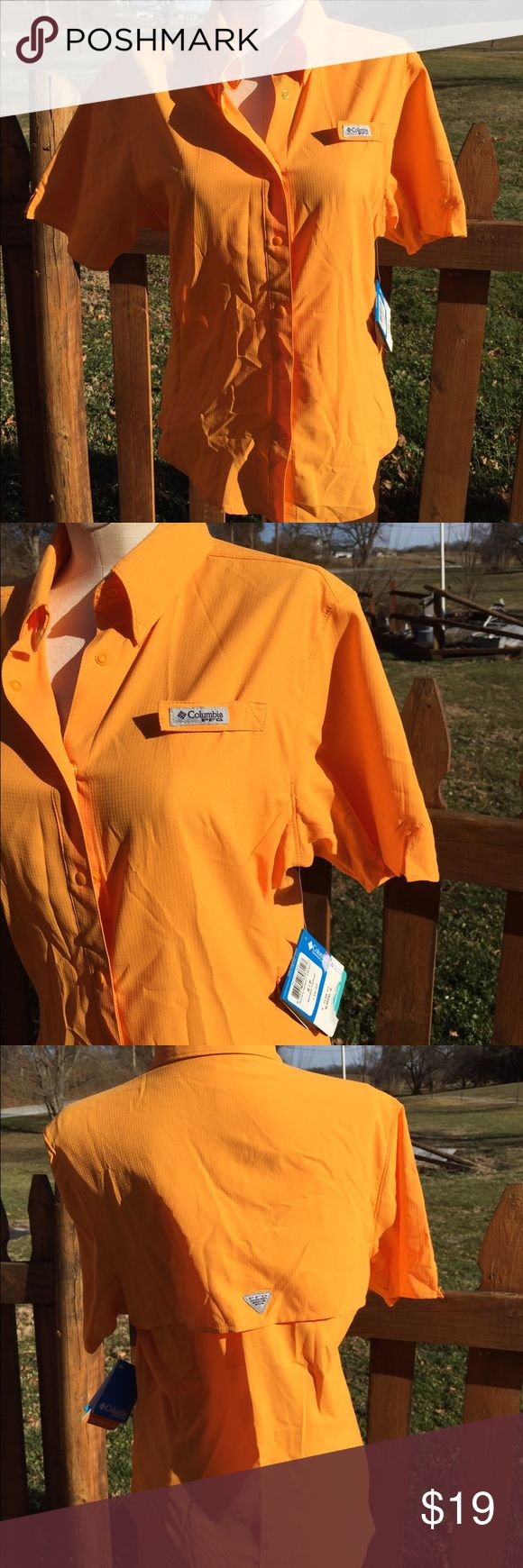 Columbia PFG Tamiami Shirt Size Small New wTags New with tags. Size small. Snap type buttons. Be sure to view the other items in our closet. We offer both women's and Mens items in a variety of sizes. Bundle and save!! Thank you for viewing our item!! Columbia Tops Button Down Shirts