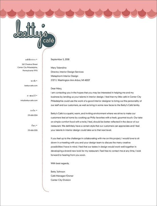 The  Best Letterhead Examples Ideas On   Examples Of