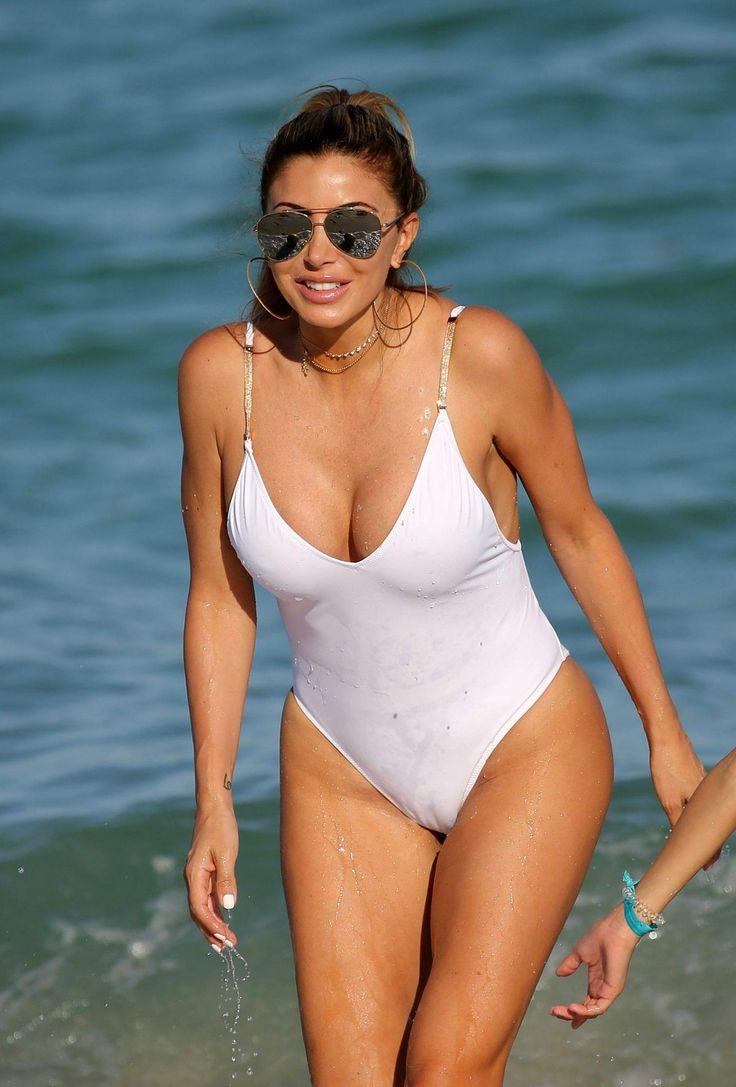 Larsa Pippen wearing white Swimsuit On The Beach In Miami http://celebs-life.com/larsa-pippen-wearing-white-swimsuit-beach-miami/  #larsapippen