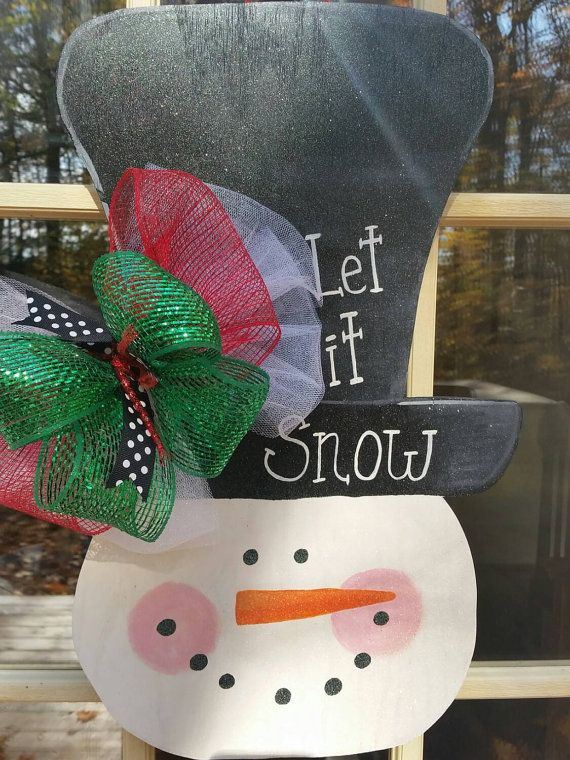 Sale.Christmas Sale. Snowman door decor.cyber by MoniLulis on Etsy