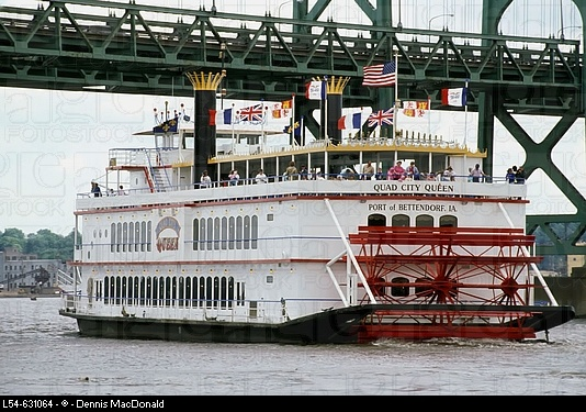 Quad City Queen, riverboat on Mississippi River, Quad Cities, IA