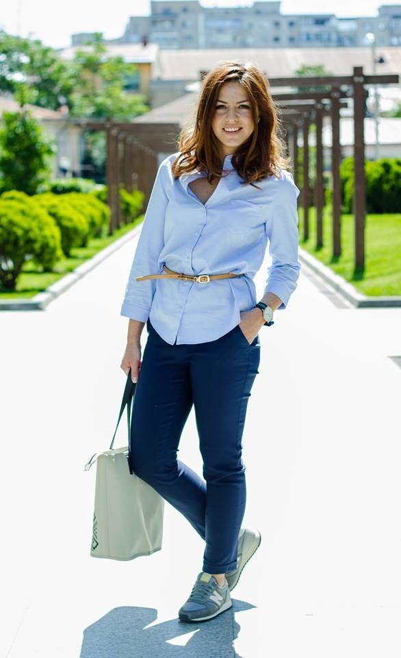 Iulia Iacob #spring #outfit #fashion #sun #newbalance #iutta #blue
