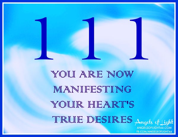 111 ANGEL NUMBERS - You are now manifesting your heart's true desires #angels #blessings #abundance For private Angel Card readings: www.angelcardreadingsforyou.com