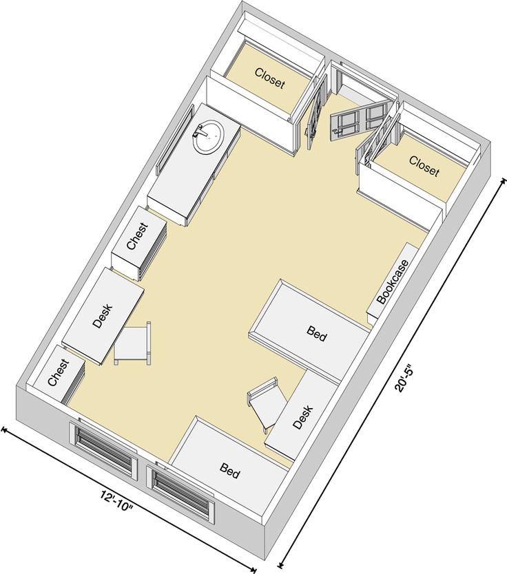 Horn Knapp Complex Floor Plan Texas Tech UniversityDorm StuffSchool DesignDorm