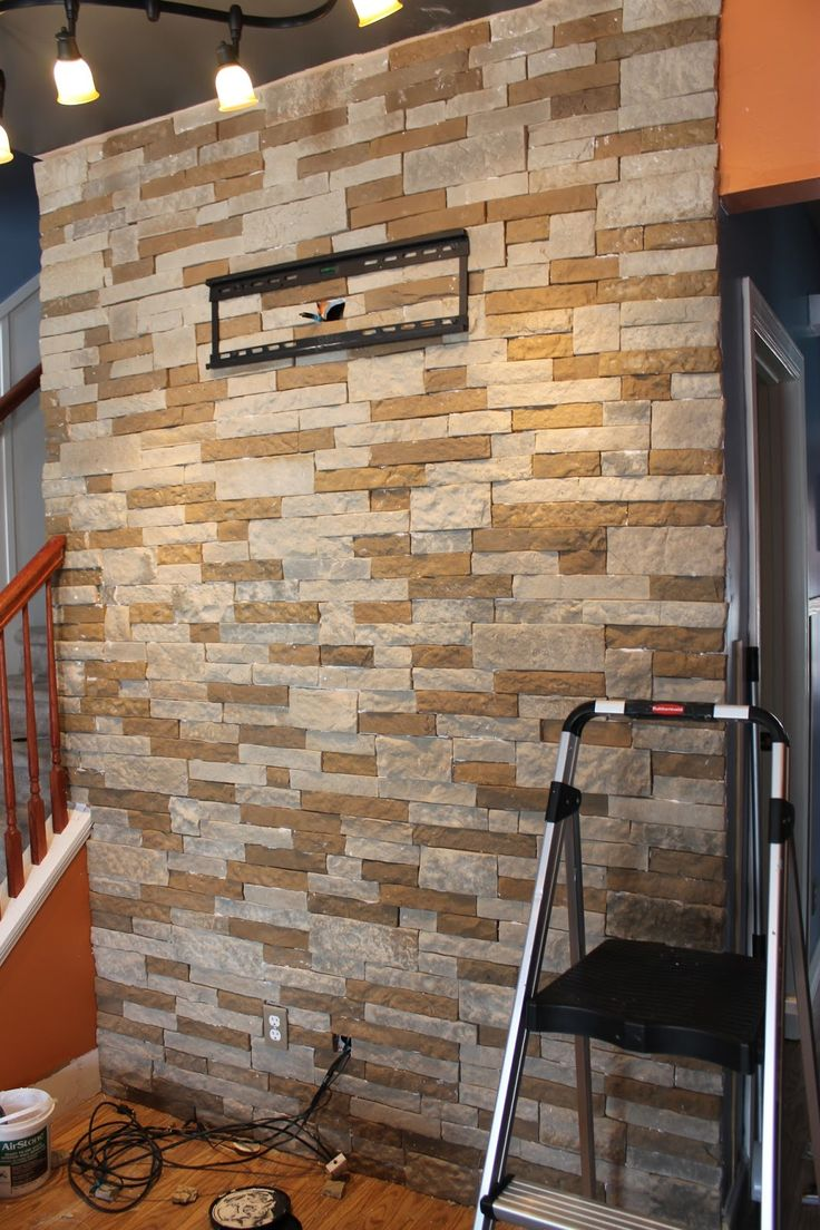 17 best ideas about stone accent walls on pinterest - Faux stacked stone interior walls ...