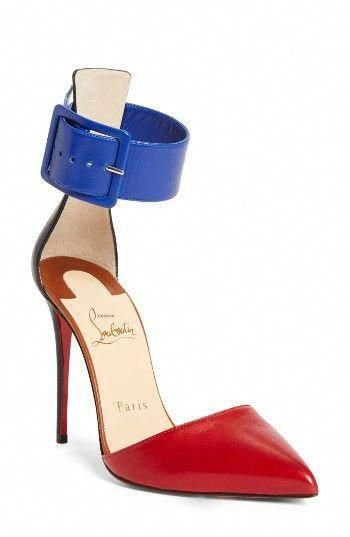 6b91a1d8367 Free shipping and returns on Christian Louboutin Harler Ankle Strap Pump  (Women) at Nordstrom.com. Inspired by a splash of nail …