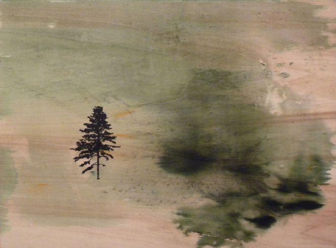 """Gaia Lionello,""""Cianac"""", tecnica mista su tavola,60x80 cm, 2010"""