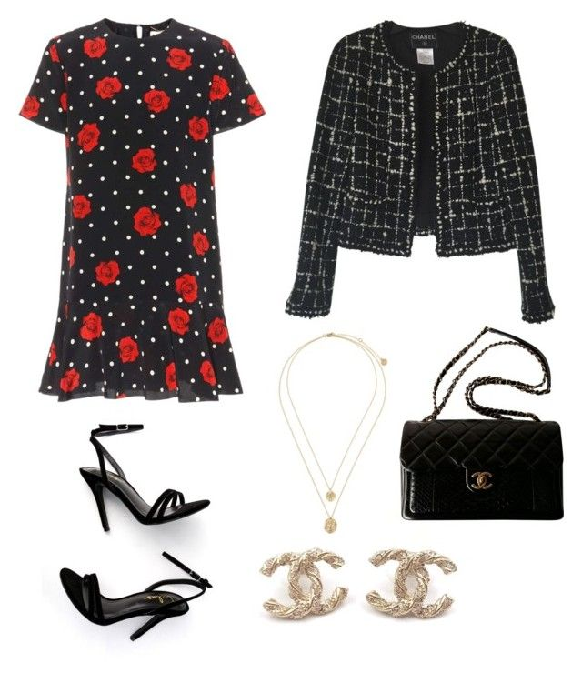 """""""Untitled #175"""" by denisapurple on Polyvore featuring Chanel, Yves Saint Laurent and LULUS"""