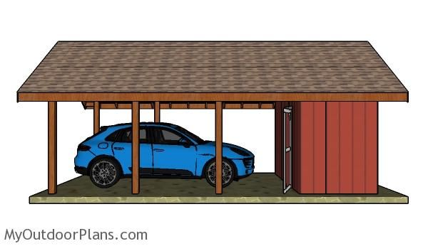 48 best images about wooden carport plans on pinterest for Carport with storage shed plans