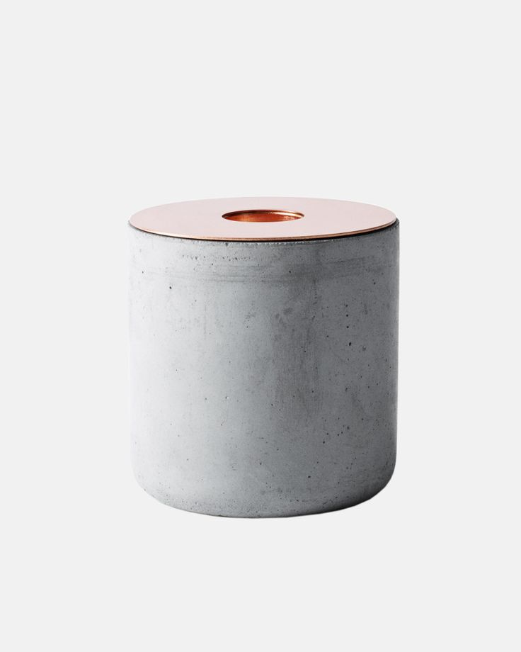 Concrete candle holder from Resident GP - The Third Row
