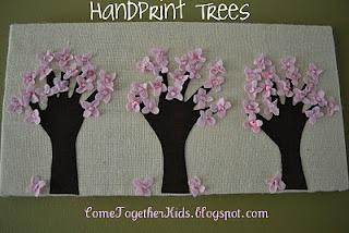 Kids Crafts: Cherries Blossoms, Handprint Trees, Hands Prints, Idea, Handprint Art, Kids Crafts, Blossoms Trees, Mothers Day Crafts, Spring Crafts