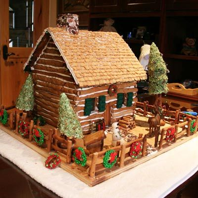 Finalist: Gingerbread Log Cabin | 2011 Gingerbread House Contest Winners | Photos | Interior | This Old House