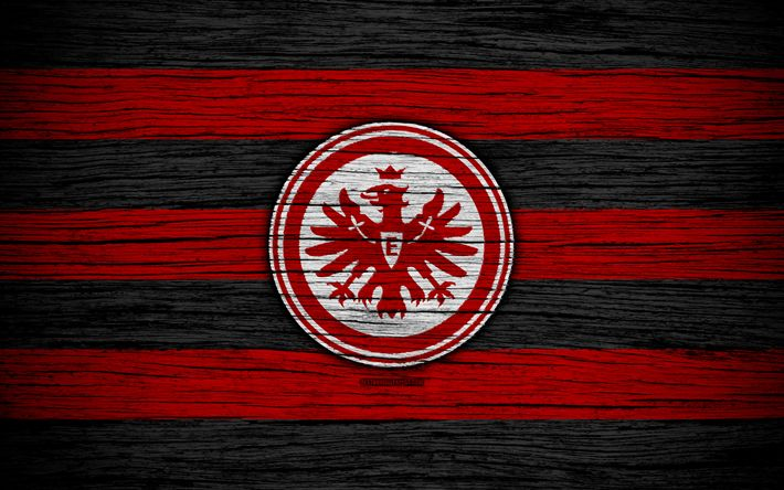Download wallpapers Eintracht Frankfurt, 4k, Bundesliga, logo, Germany, wooden texture, FC Eintracht Frankfurt, soccer, Eintracht, football, Eintracht Frankfurt FC