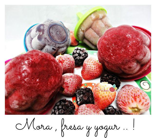 Reciclando con Erika : Helado de Mora, fresa y yogur