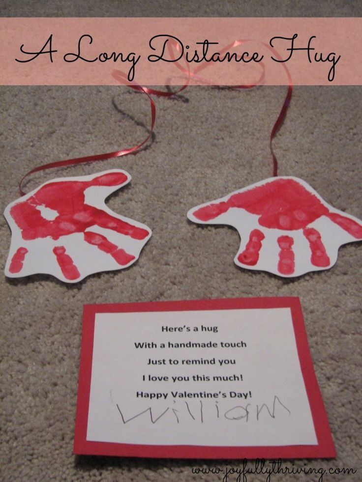 Grandparents Day Craft A Long Distance Hug - My cute preschoolers craft for Valentine's Day. Kids, Moms and Teachers all loved it!
