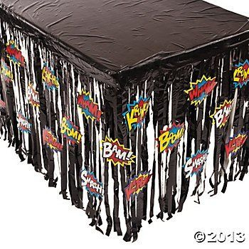 Superhero super hero table skirt party decoration 29 h x for Arabian decoration materials trading