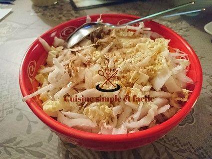 Salade de chou chinois au sésame.