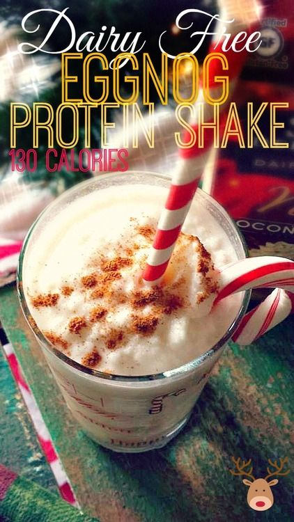 130 Calorie Skinny Dairy Free Eggnog Protein Shake!