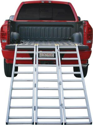 Equipment Loading Ramps. ATV Heavy Duty Steel & Aluminum Ramp - - Aluminum ATV Ramps, ATV Truck Ramp, Tri Fold ATV Ramps.