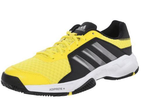Adidas Performance Barricade Court Tennis Shoe Bright Yellow/Iron Metallic/ Black M US
