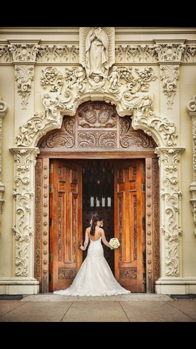 Bridal Portrait Of Beautiful Katie Taken At St Francis Church In Waco Texas