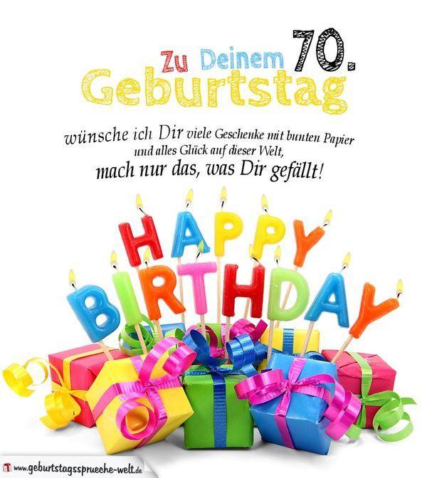 Glueckwuensche Zum 70 Geburtstag Top 20 Geburtstagswunsche Zum 70