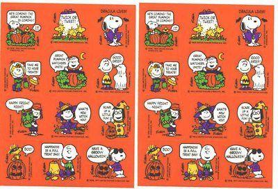 Peanuts Snoopy & Peanuts Gang Hallmark Halloween Stickers - 2 Sheets @ niftywarehouse.com #NiftyWarehouse #Geek #Horror #Creepy #Scary #Movies