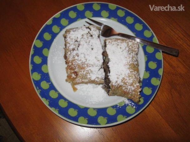 Jednoduchý makovo-jablkový závin (fotorecept) - Recept