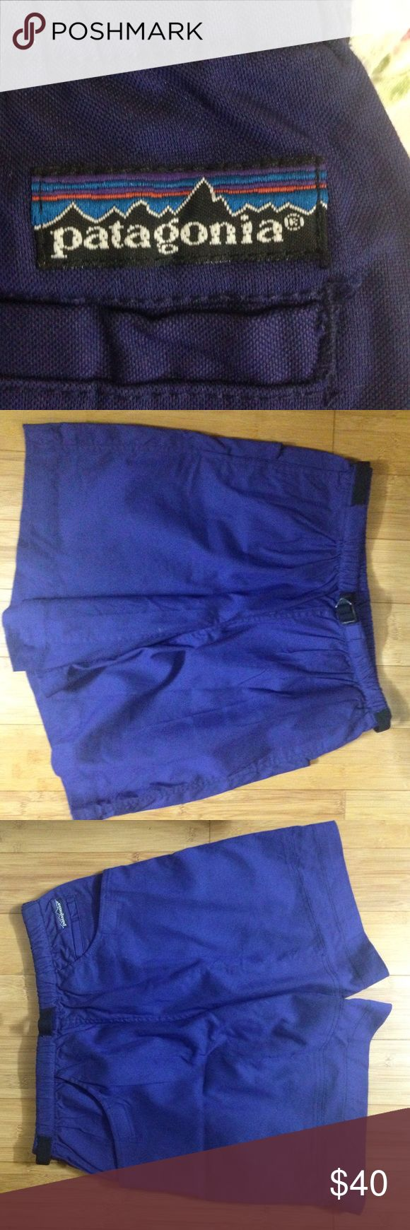 PATEGONIA men's shorts New without tags. Beautiful color, sort of a blueish purple. These are. Wry good quality shorts that only Pategonia knows Patagonia Shorts Hybrids