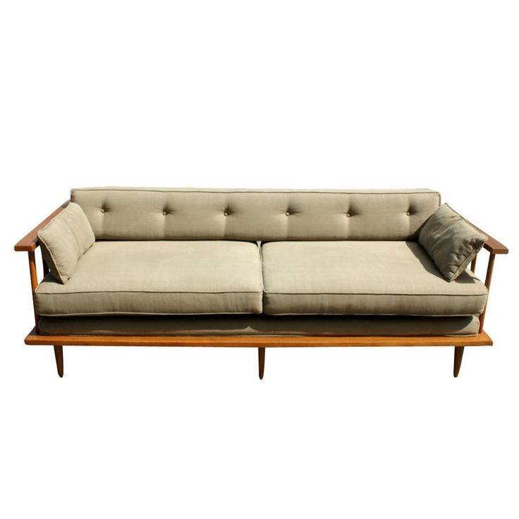 Paul McCobb, Teak Sofa Daybed, 1950s. Very nice to look at but a shin banger for sure!
