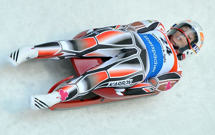 Canada's Arianne Jones speeds down the course during her first run at the Women's luge World Cup race in Igls near Innsbruck, Austria, on Saturday, Nov. 26, 2011.