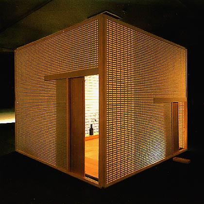 tea ceremony room 茶室(想庵) by Shigeru Uchida, 1993, size W 2400 x D 2400 x H 2000 mm