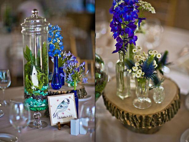 Beautiful Blooms - Eclectic Terrarium & Bud Vase Centerpiece at Audubon Center