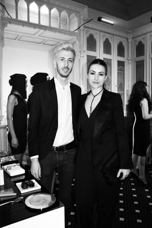 Ioana Voicu  of MAUVERT together with George Glavan of Madison Perfumery at the launch of In the Garden of Good and Evil By Kilian fragarance collection.
