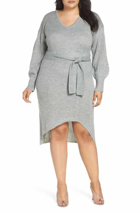 95673d986b4 LOST INK Belted Sweater Dress (Plus Size) Best Reviews