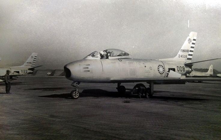 F-86008 F-86F Sabre RoCAF USAF 24539 Taoyuan AFB Circa 1955