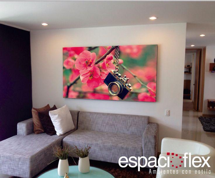 Ideas para decorar! Nuestra línea de cuadros y vinilos decorativos, permiten ambientar los espacios con personalidad y originalidad. Llámenos al 4448814, para #espacioflex es un gusto ser sus aliados en decoración.