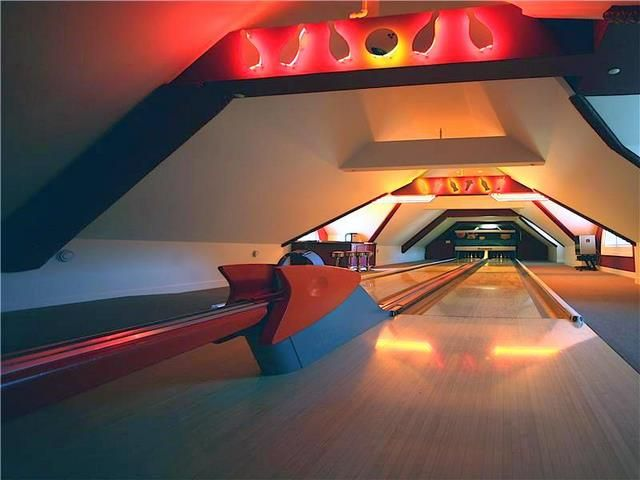 Private Home Bowling Alley Lane Retro Part 50